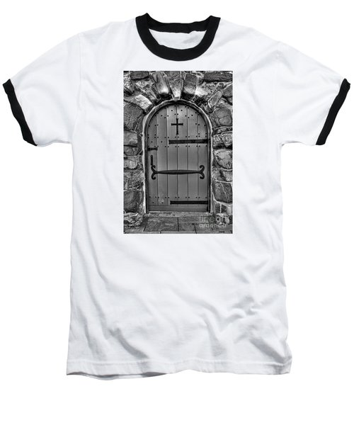 Baseball T-Shirt featuring the photograph Old Church Door by Alana Ranney