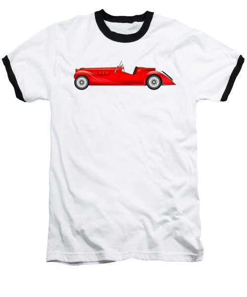Baseball T-Shirt featuring the digital art Old Classic Race Car by Michal Boubin