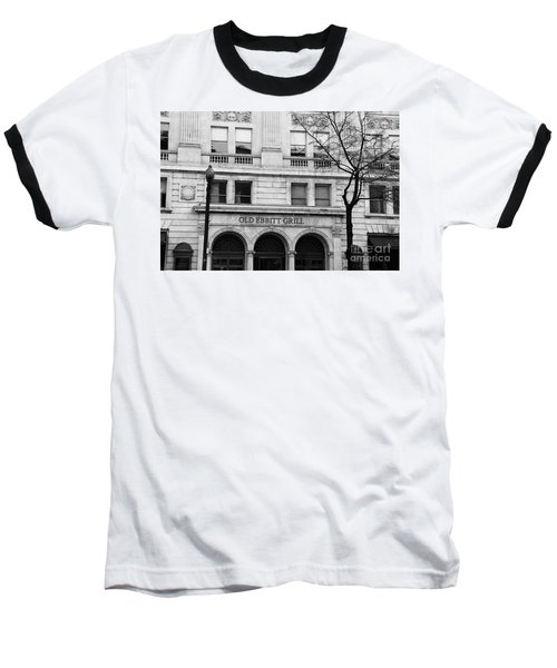 Old Ebbitt Grill Facade Black And White Baseball T-Shirt