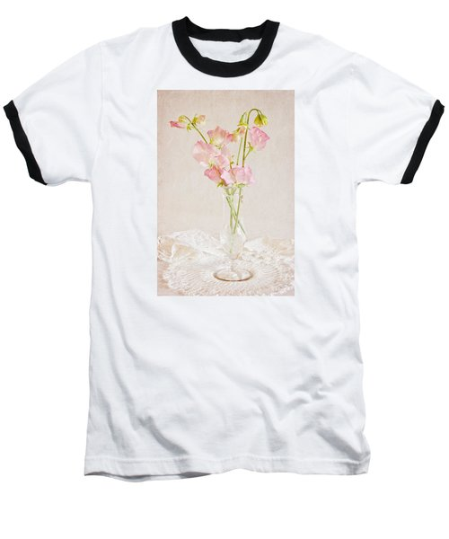 Old Fashioned Sweet Peas Baseball T-Shirt by Sandra Foster