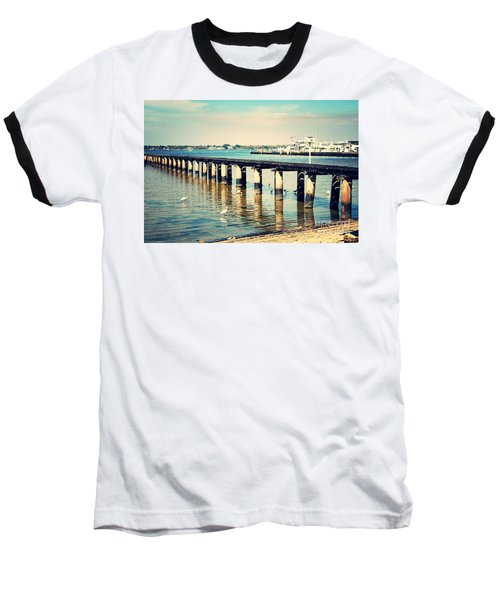 Old Fort Myers Pier With Ibises Baseball T-Shirt by Carol Groenen