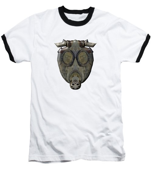 Old Gas Mask Baseball T-Shirt by Michal Boubin