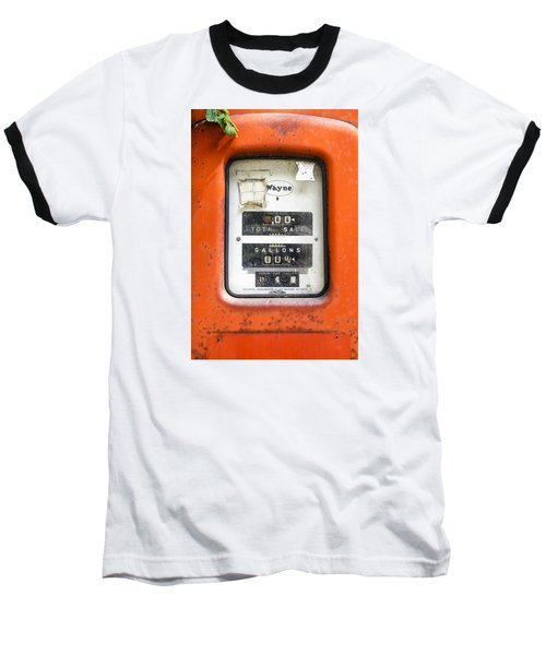 Baseball T-Shirt featuring the photograph Old Gas Pump by Tom Singleton