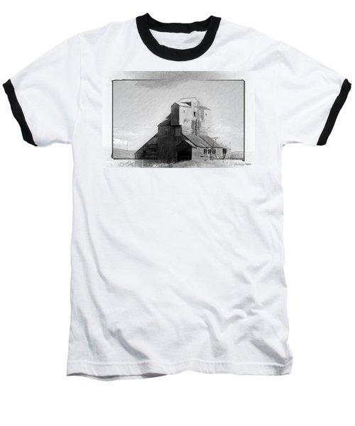 Old Grain Elevator Baseball T-Shirt