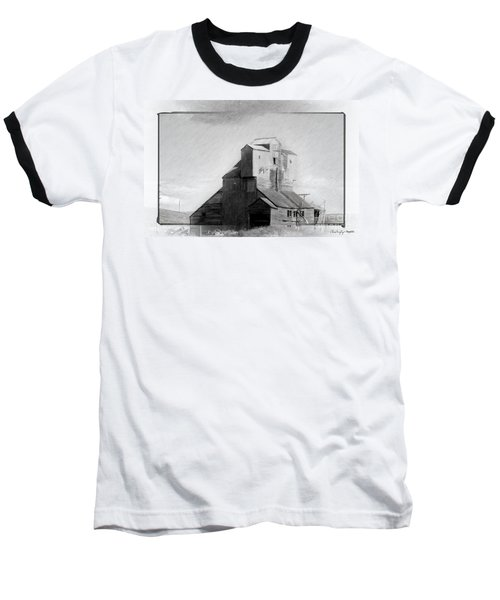 Old Grain Elevator Baseball T-Shirt