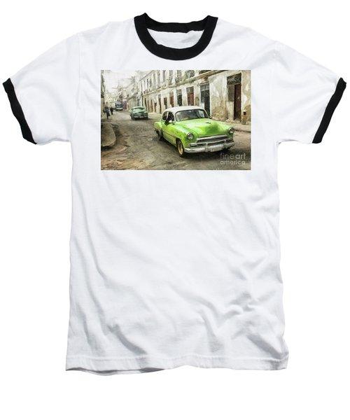 Old Green Car Baseball T-Shirt