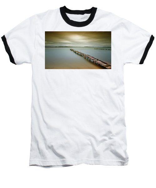 Old Jetty 0010 Baseball T-Shirt by Kevin Chippindall