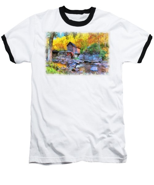 Old Mill Aquarelle Baseball T-Shirt