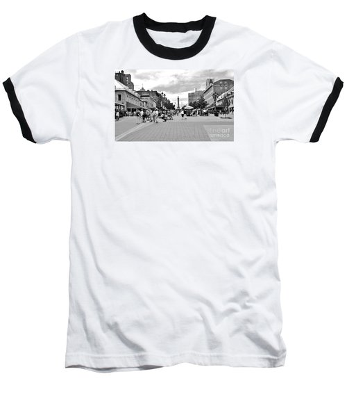 Old Montreal Jacques Cartier Square Baseball T-Shirt by Reb Frost