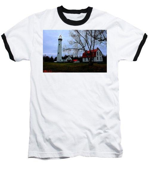 Old Presque Isle Lighthouse Baseball T-Shirt