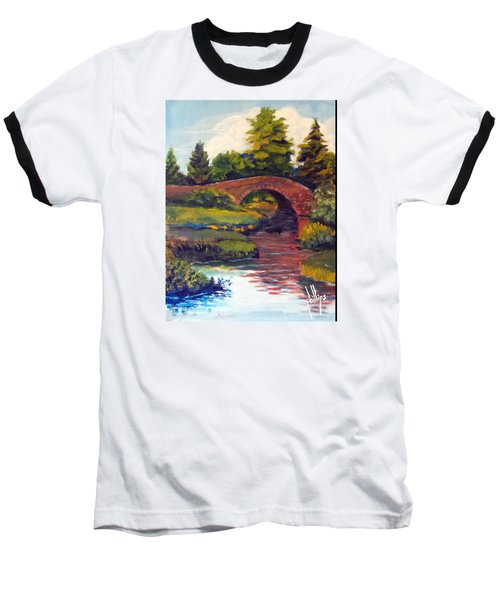 Old Red Stone Bridge Baseball T-Shirt by Jim Phillips