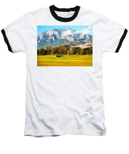 old shed against Flatirons Baseball T-Shirt