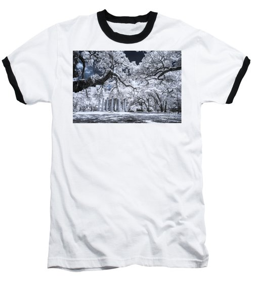Old Sheldon Church In Infrared Baseball T-Shirt