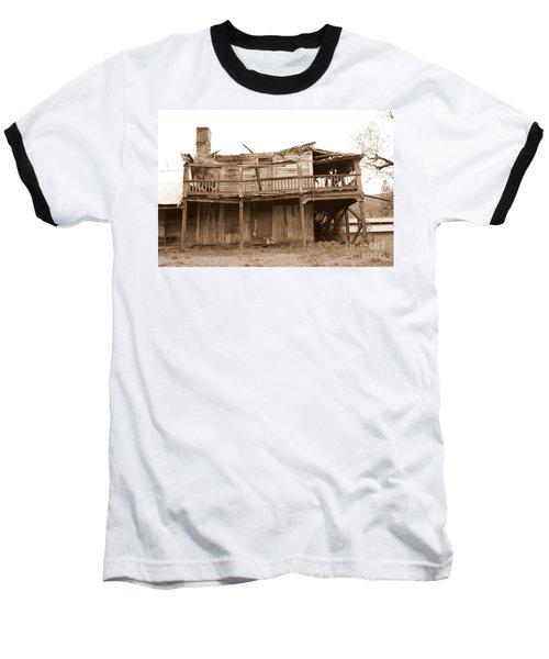 Old Stagecoach Stop Baseball T-Shirt by Marie Neder
