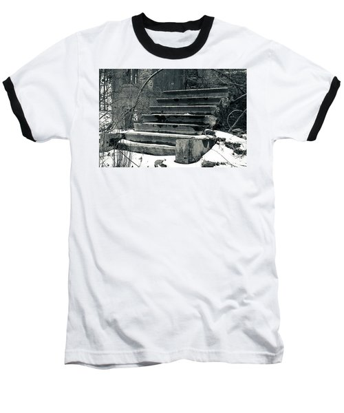 Old Stairs To Nowhere Baseball T-Shirt by Jeff Severson
