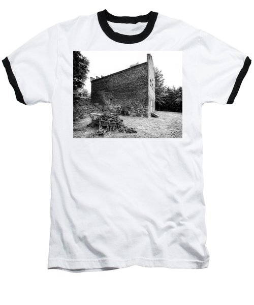 Baseball T-Shirt featuring the photograph Old Store And Chains by Alan Raasch
