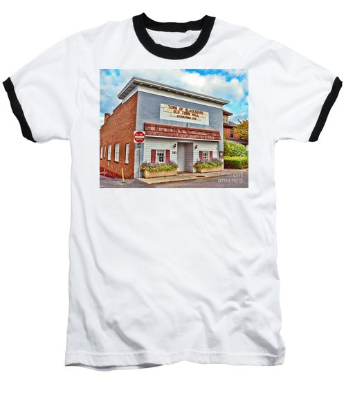 Old Town Hall Blacksburg Virginia Est 1798 Baseball T-Shirt by Kerri Farley