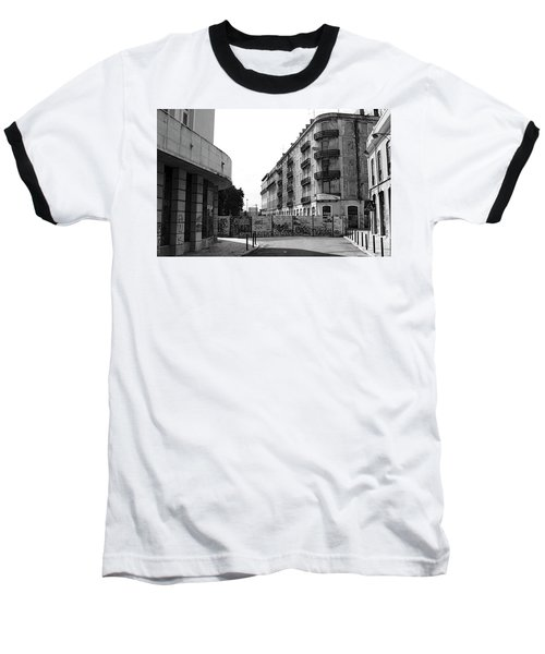 Old Town Neighborhood In The Black And White Of Blight Baseball T-Shirt