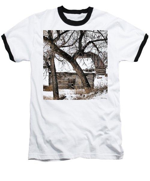 Old Ulm Barn Baseball T-Shirt by Susan Kinney