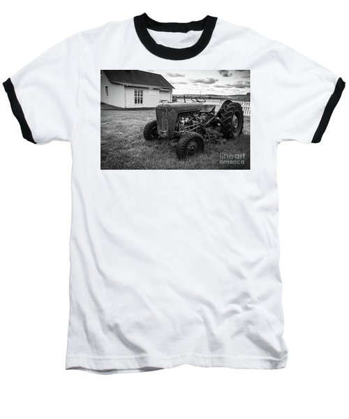 Baseball T-Shirt featuring the photograph Old Vintage Tractor Iceland by Edward Fielding