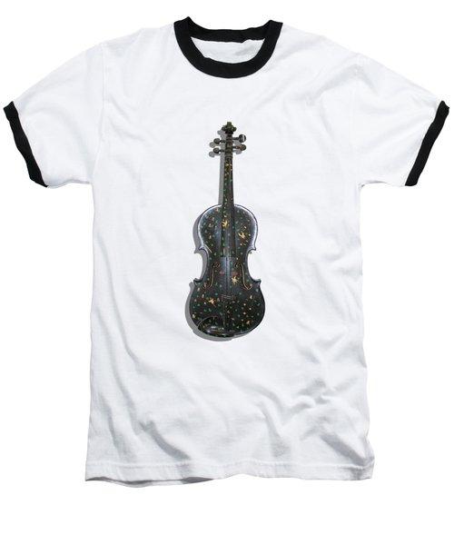 Old Violin With Painted Symbols Baseball T-Shirt