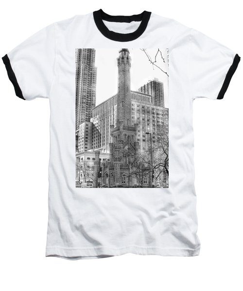 Old Water Tower - Chicago Baseball T-Shirt