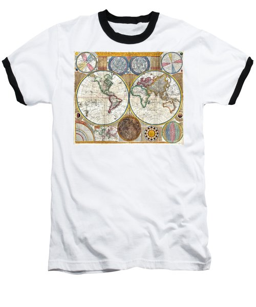 Old World Map Print From 1794 Baseball T-Shirt
