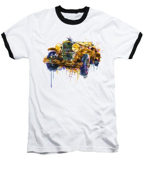 Oldtimer Automobile In Watercolor Baseball T-Shirt