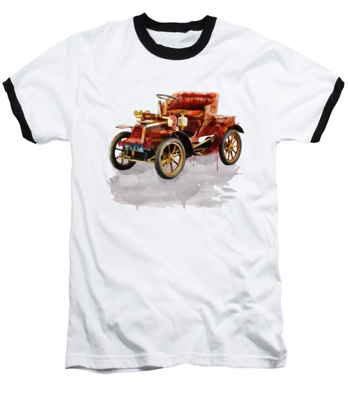 Oldtimer Car Watercolor Baseball T-Shirt