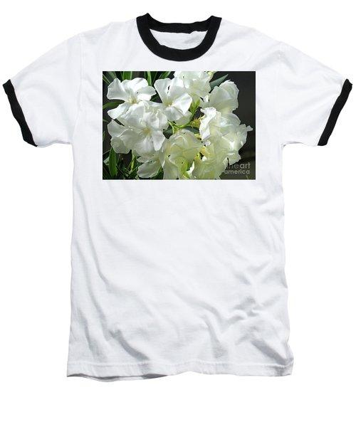 Oleander Mont Blanc 2 Baseball T-Shirt by Wilhelm Hufnagl