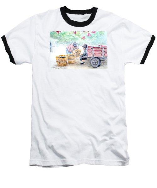 Olive Pickers Baseball T-Shirt by Marilyn Zalatan