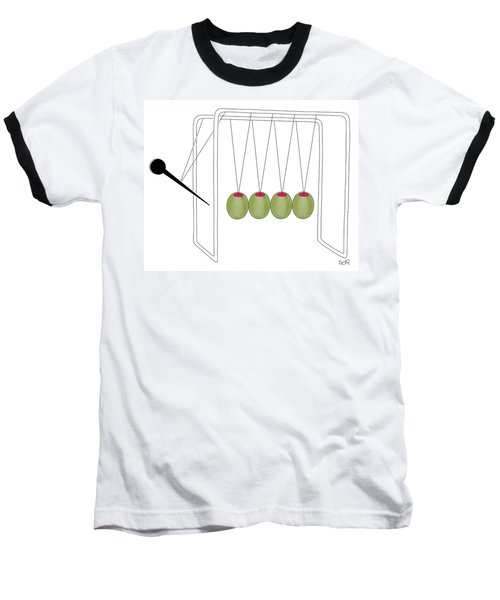 Olives And Toothpick On Newtons Cradle Baseball T-Shirt