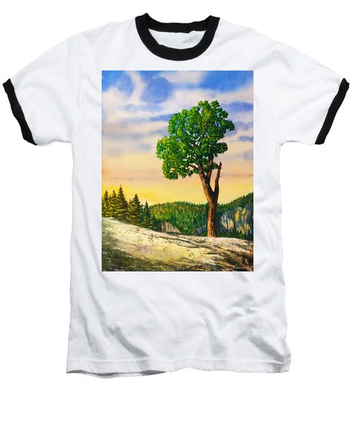 Olmsted Point Tree Baseball T-Shirt by Douglas Castleman