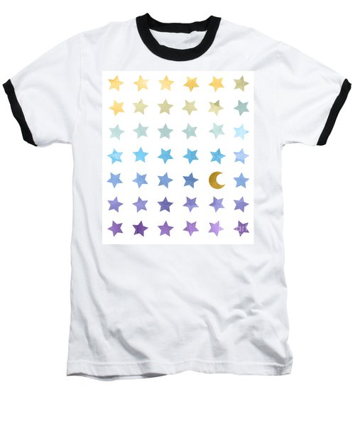 Ombre Cosmos Baseball T-Shirt by Whitney Morton