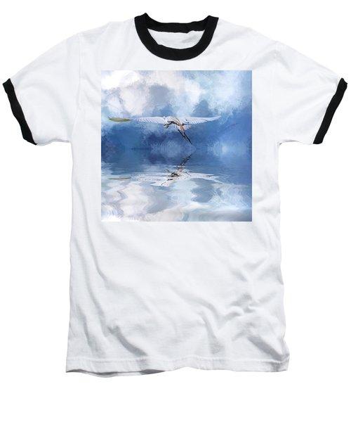 On A Wing And A Prayer Baseball T-Shirt by Cyndy Doty