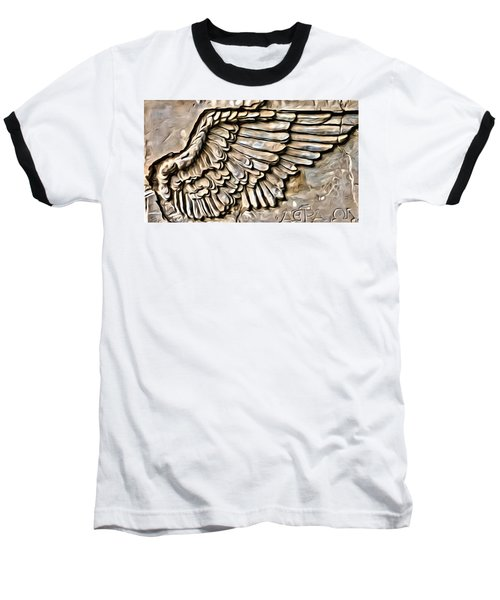 On Angels Wings Baseball T-Shirt