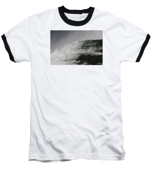 Baseball T-Shirt featuring the photograph On Edge by Vadim Levin