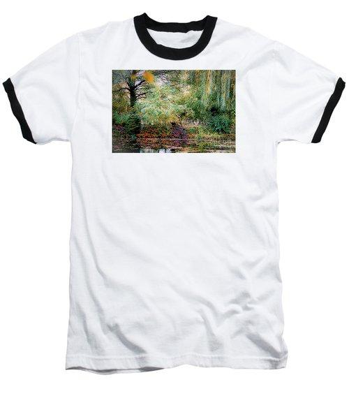 Reflection On, Oscar - Claude Monet's Garden Pond Baseball T-Shirt