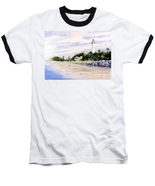 On The Beach At St. Simon's Island Baseball T-Shirt