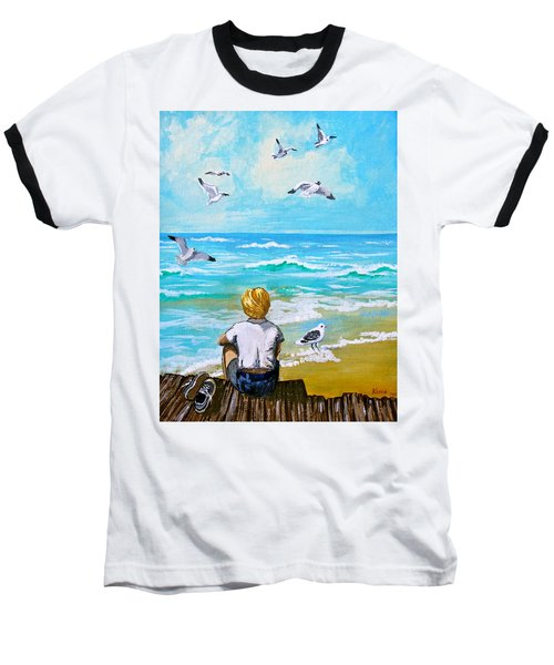 On The Boardwalk Baseball T-Shirt