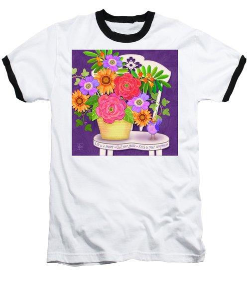 On The Bright Side - Flowers Of Faith Baseball T-Shirt