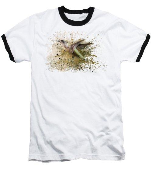 On The Fly Hummingbird Art Baseball T-Shirt