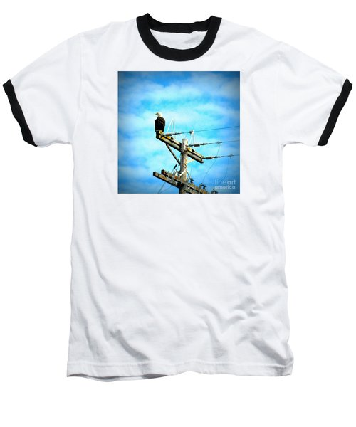 Baseball T-Shirt featuring the photograph On The Job by Tanya Searcy