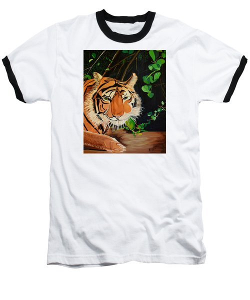 On The Prowl Baseball T-Shirt by Donna Blossom