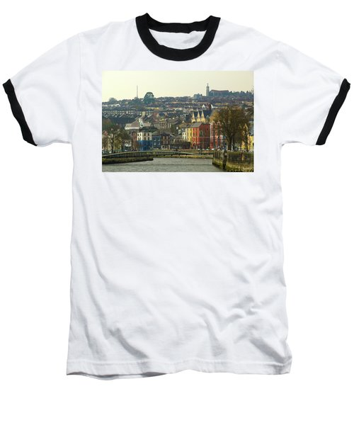 Baseball T-Shirt featuring the photograph On The River Lee, Cork Ireland by Marie Leslie