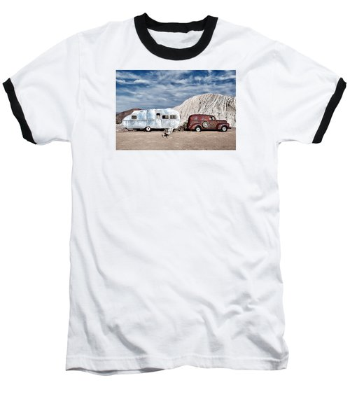 On The Road Again Baseball T-Shirt by Renee Sullivan