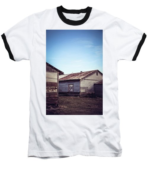 Baseball T-Shirt featuring the photograph Once Industrial - Series 2 by Trish Mistric