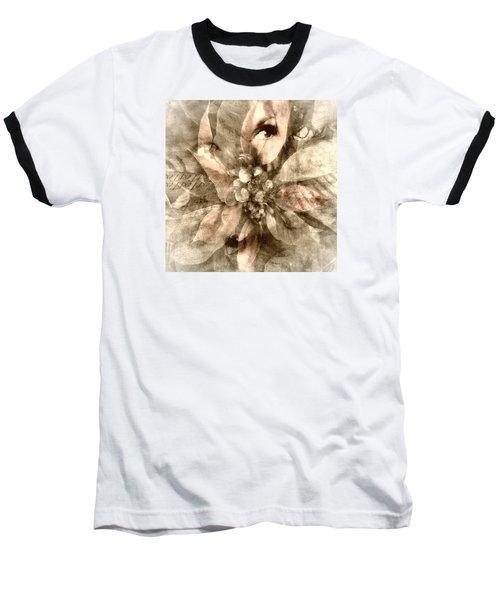 Once Upon Grandmom's Poinsettia Baseball T-Shirt