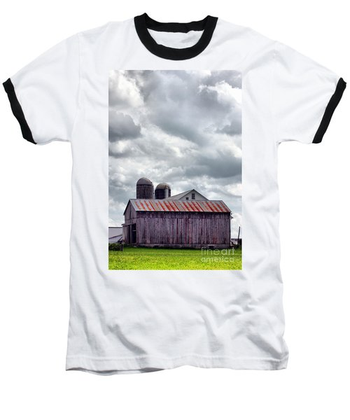 Baseball T-Shirt featuring the photograph One Fine Cloudy Day  by Polly Peacock