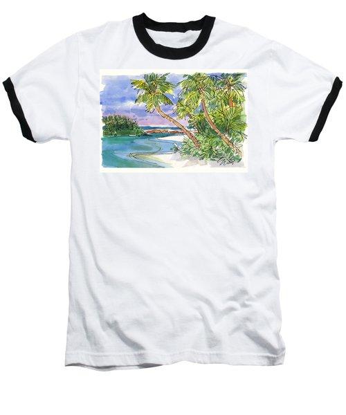 One-foot-island, Aitutaki Baseball T-Shirt